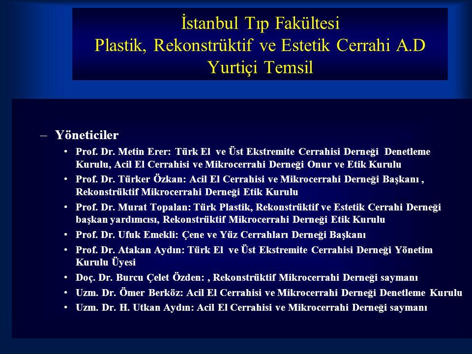İstanbul Tıp Fakültesi Plastik, Rekonstrüktif ve Estetik Cerrahi A