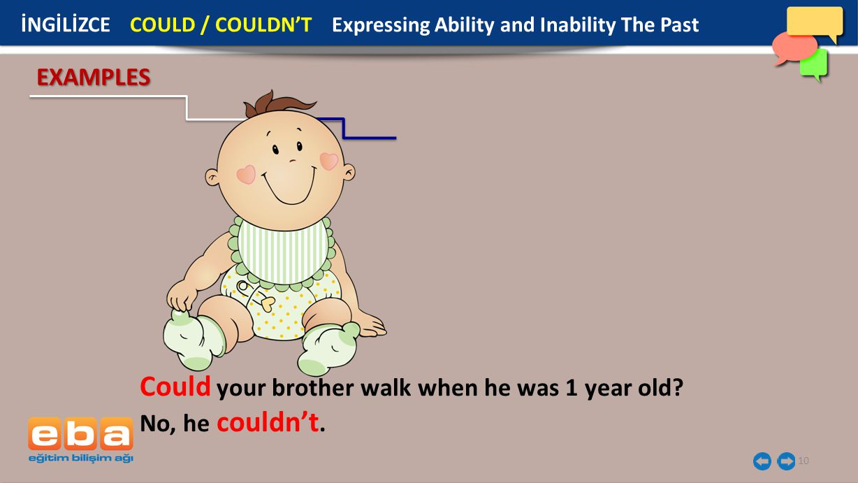 Could your brother walk when he was 1 year old