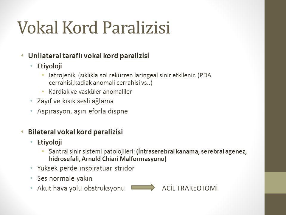 Vokal Kord Paralizisi Unilateral taraflı vokal kord paralizisi