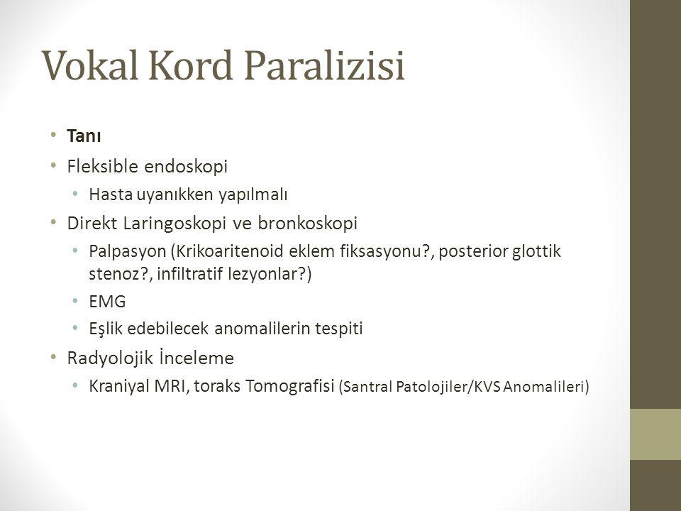 Vokal Kord Paralizisi Tanı Fleksible endoskopi