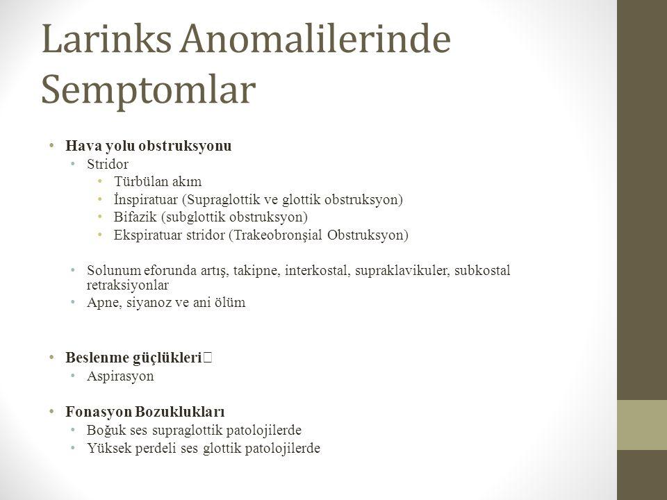 Larinks Anomalilerinde Semptomlar