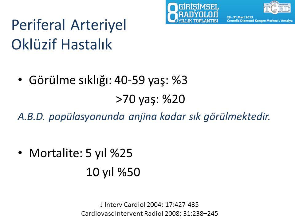 Periferal Arteriyel Oklüzif Hastalık