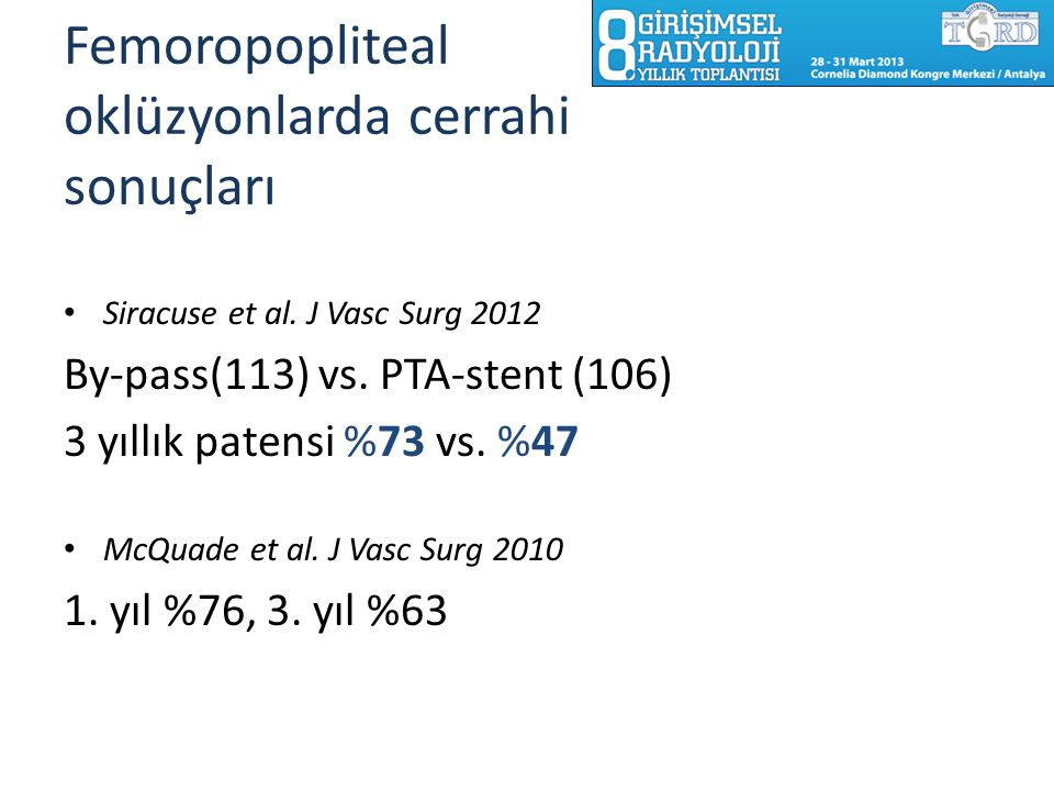 Femoropopliteal oklüzyonlarda cerrahi sonuçları