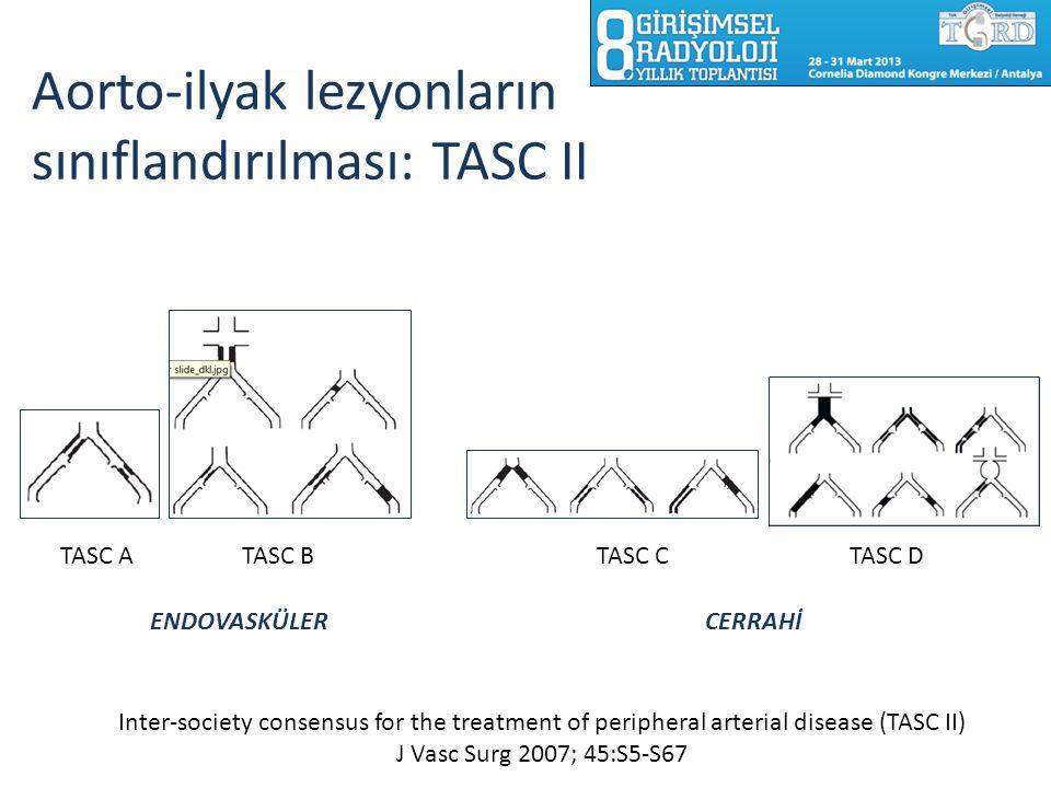 Aorto-ilyak lezyonların sınıflandırılması: TASC II
