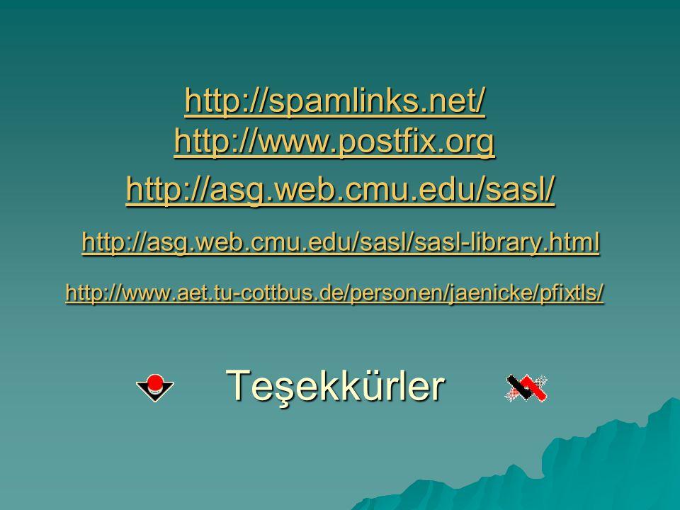 http://spamlinks. net/ http://www. postfix. org http://asg. web. cmu