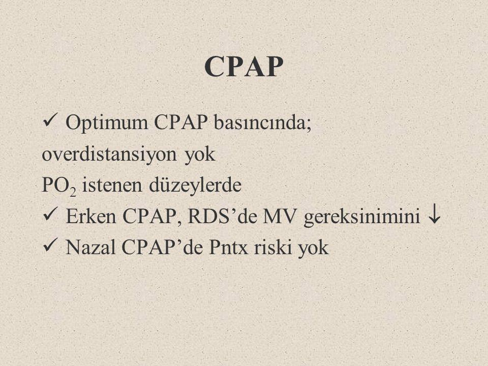 CPAP Optimum CPAP basıncında; overdistansiyon yok