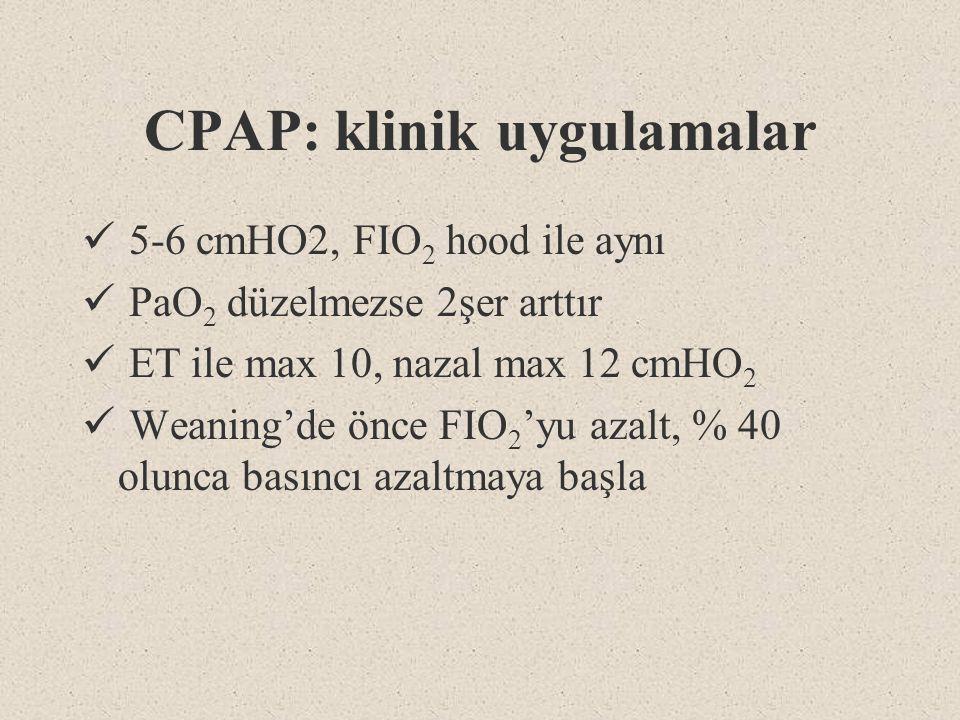CPAP: klinik uygulamalar