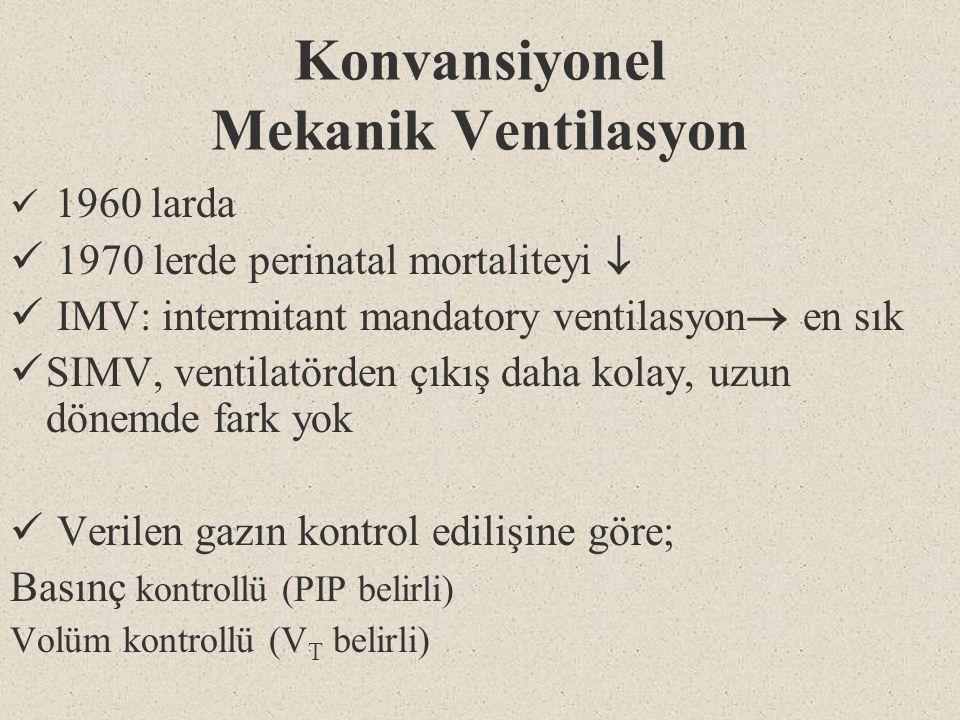 Konvansiyonel Mekanik Ventilasyon