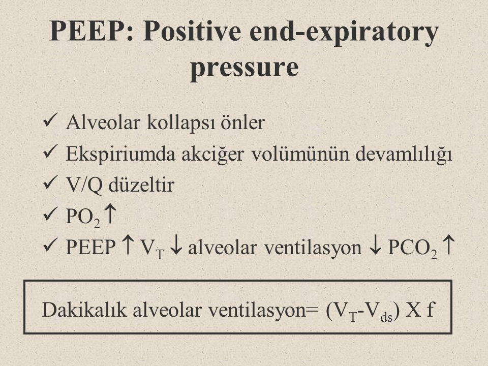 PEEP: Positive end-expiratory pressure