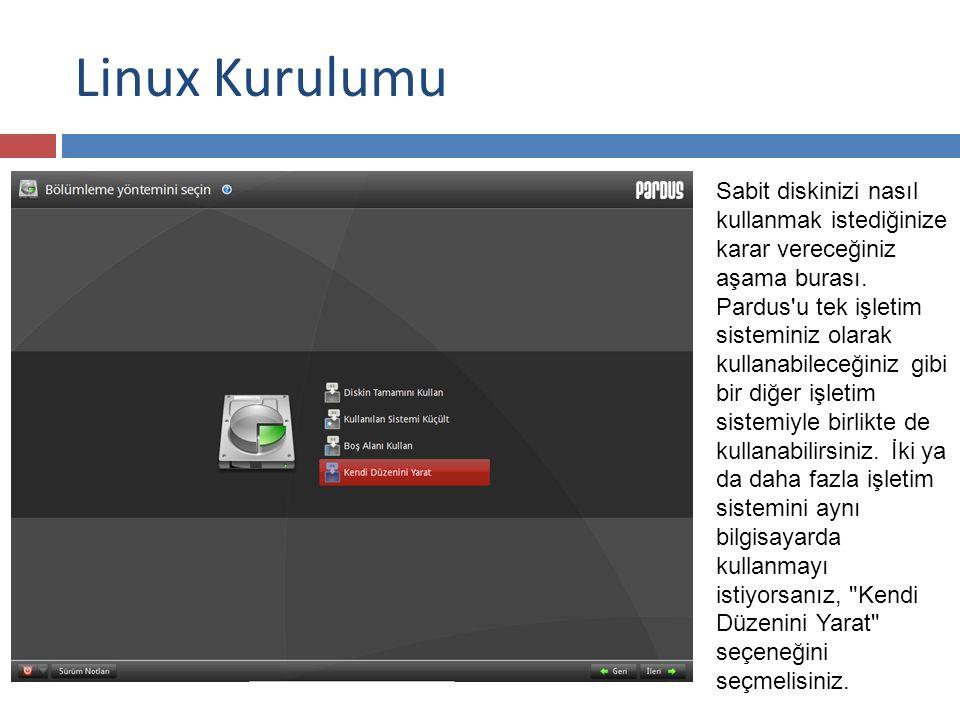 Linux Kurulumu