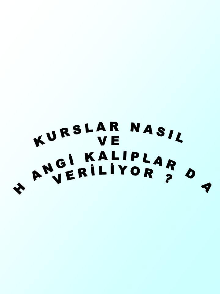 KURSLAR NASIL VE H ANGİ KALIPLAR D A VERİLİYOR