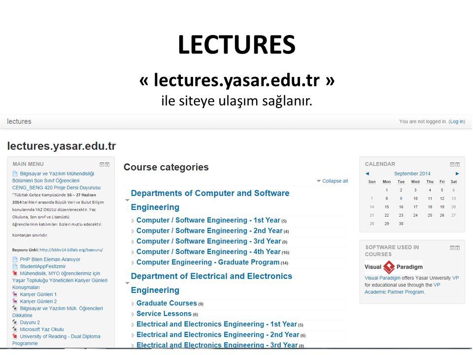 « lectures.yasar.edu.tr »