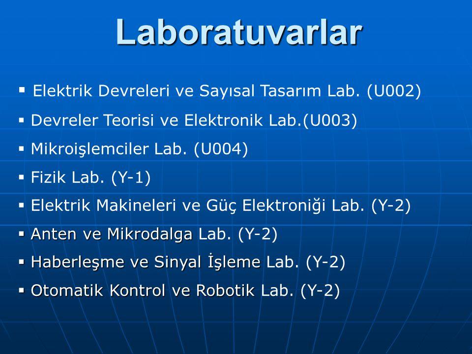 Laboratuvarlar Elektrik Devreleri ve Sayısal Tasarım Lab. (U002)