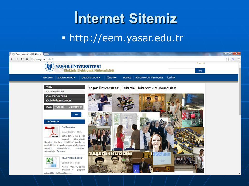 İnternet Sitemiz http://eem.yasar.edu.tr
