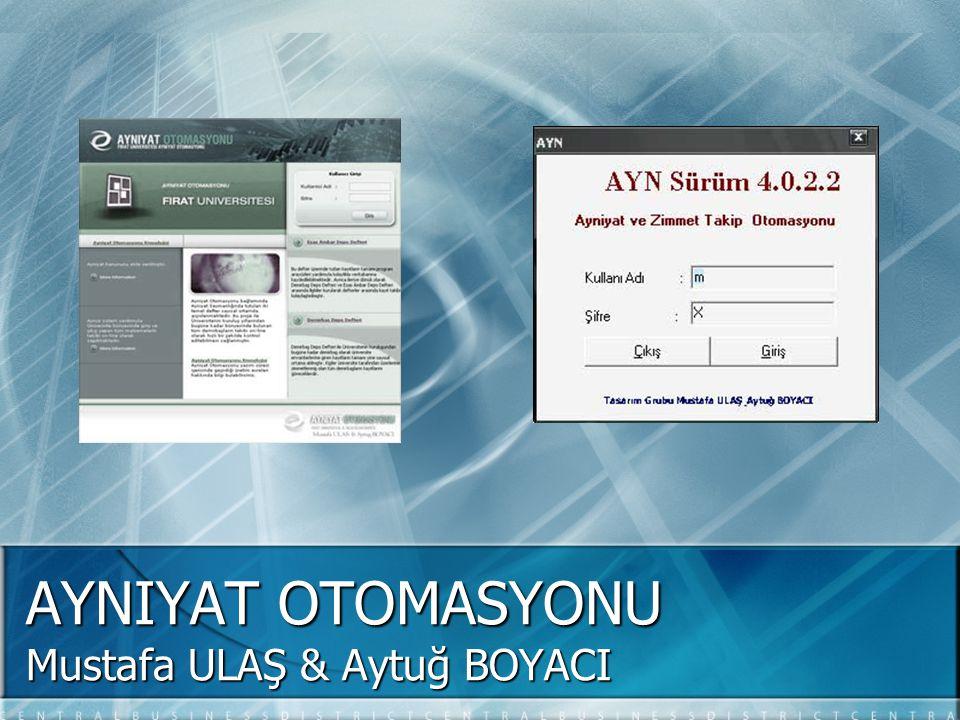 Mustafa ULAŞ & Aytuğ BOYACI