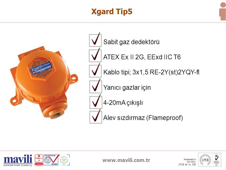 Xgard Tip5 Sabit gaz dedektörü ATEX Ex II 2G, EExd IIC T6