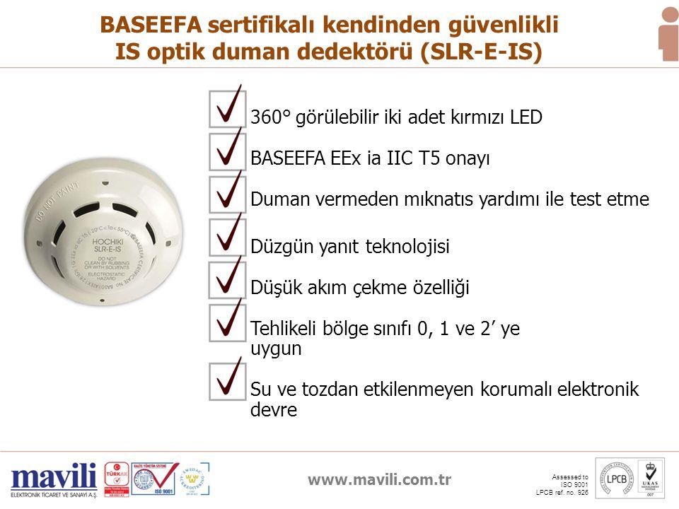 BASEEFA sertifikalı kendinden güvenlikli