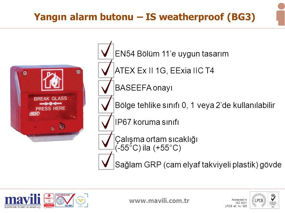 Yangın alarm butonu – IS weatherproof (BG3)
