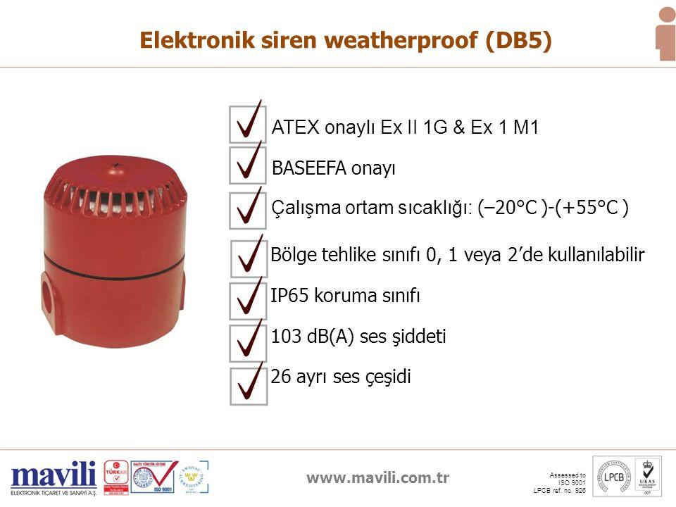 Elektronik siren weatherproof (DB5)