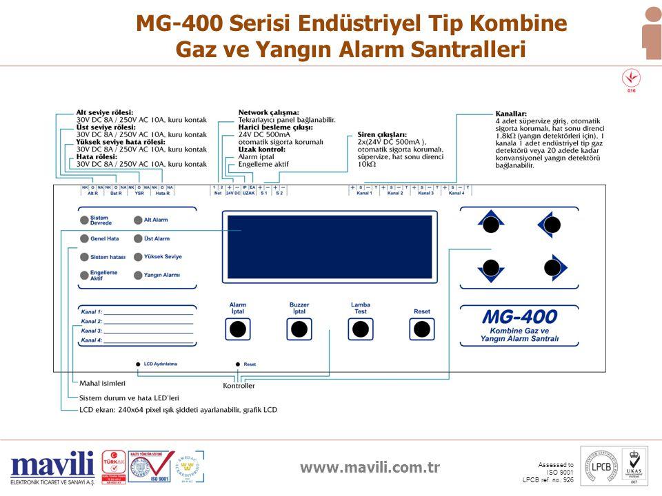 MG-400 Serisi Endüstriyel Tip Kombine Gaz ve Yangın Alarm Santralleri
