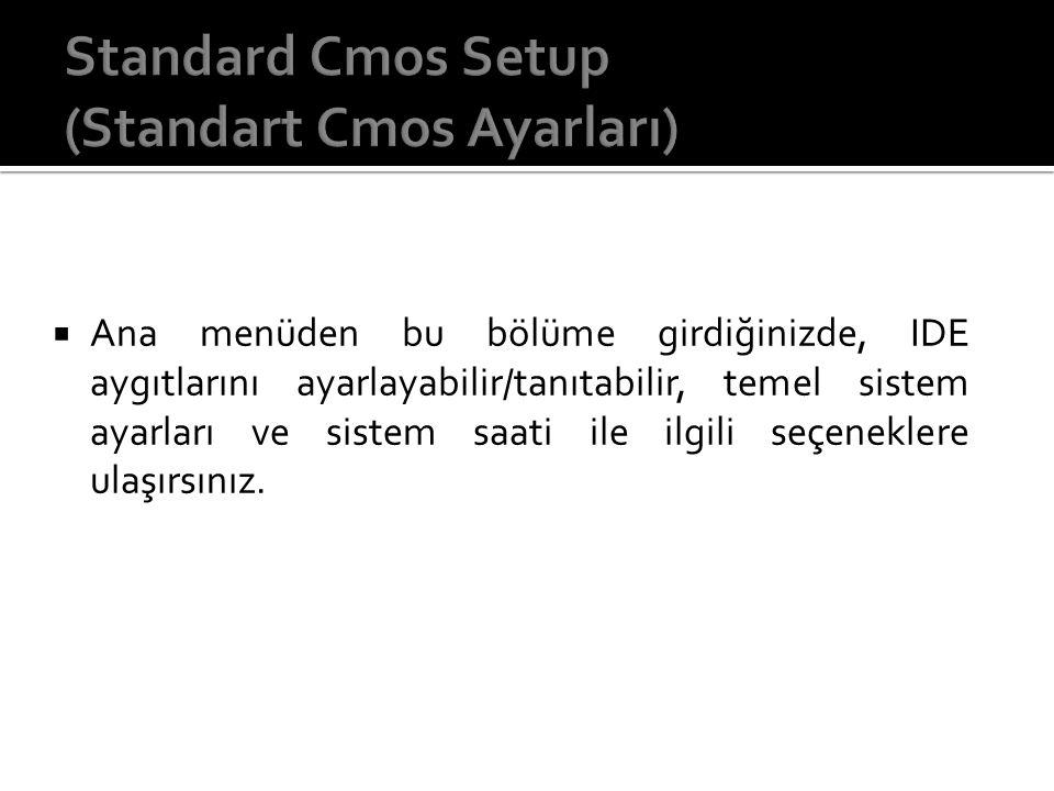 Standard Cmos Setup (Standart Cmos Ayarları)