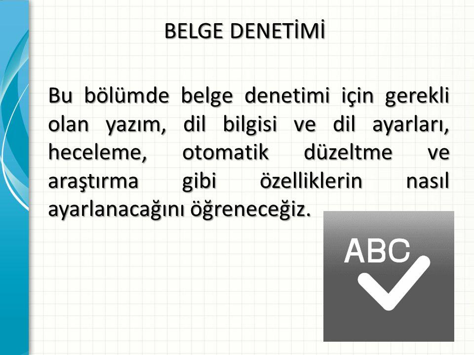 BELGE DENETİMİ
