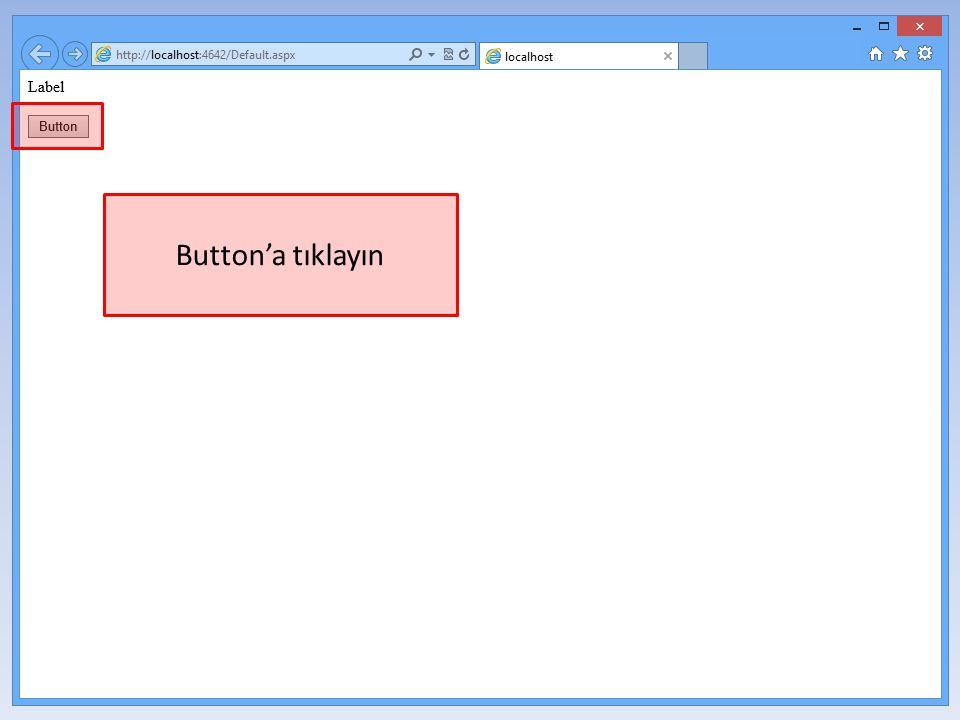 Button'a tıklayın