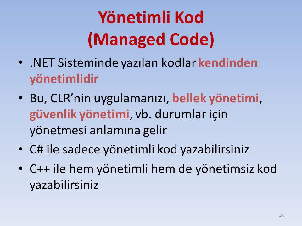 Yönetimli Kod (Managed Code)