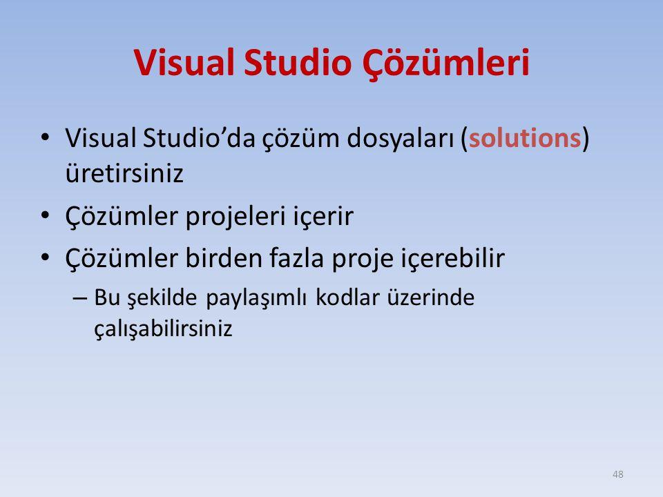 Visual Studio Çözümleri