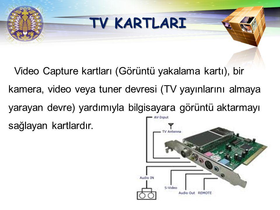 TV KARTLARI Video Capture kartları (Görüntü yakalama kartı), bir