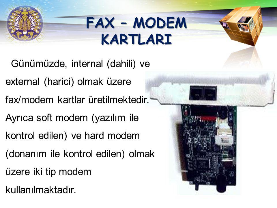 FAX – MODEM KARTLARI