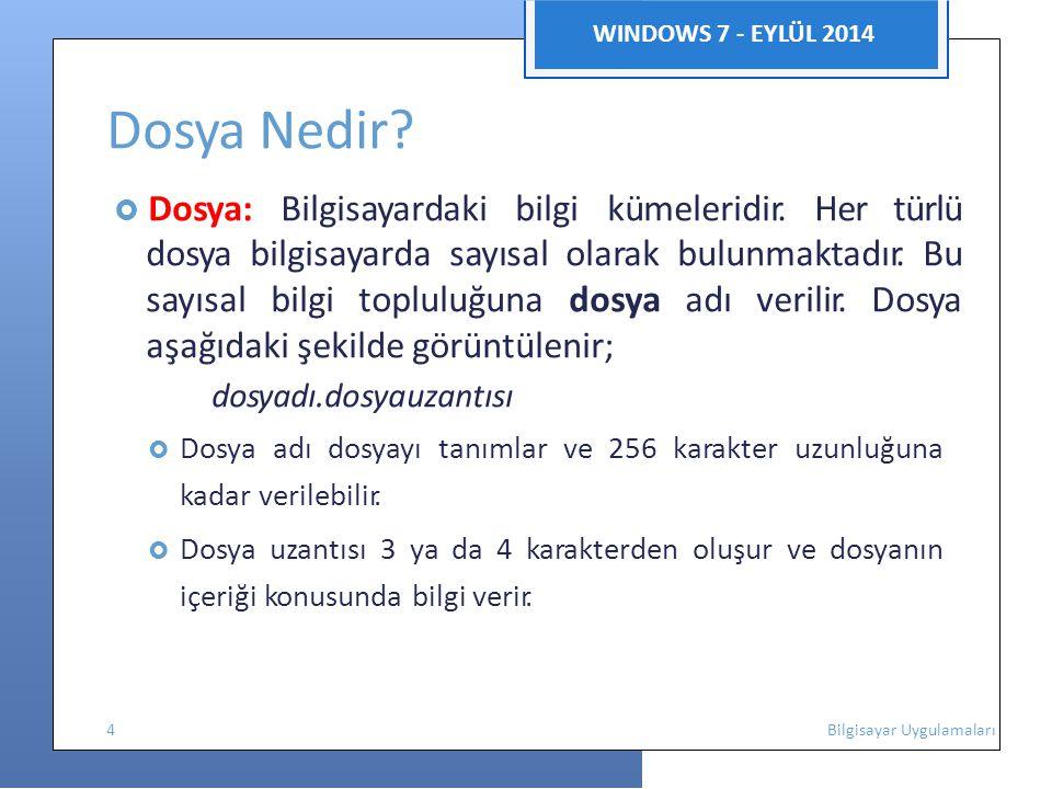 Dosya Nedir WINDOWS 7 - EYLÜL 2014 dosyadı.dosyauzantısı