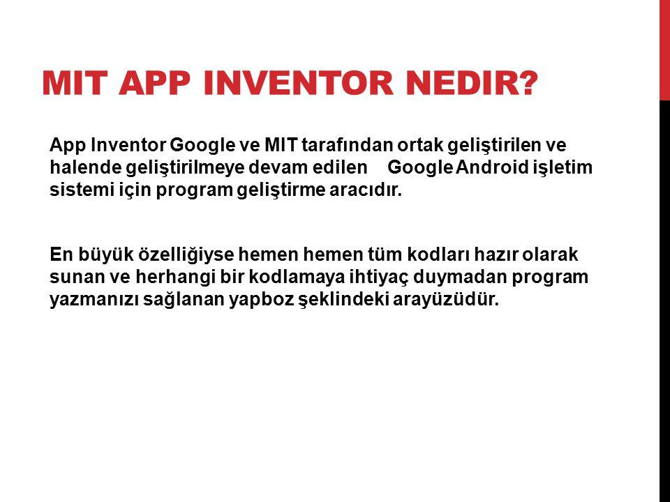 MIT App Inventor nedir