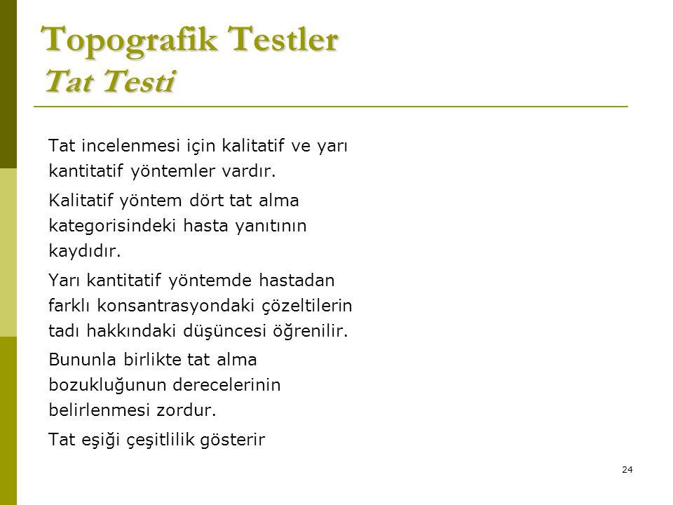 Topografik Testler Tat Testi