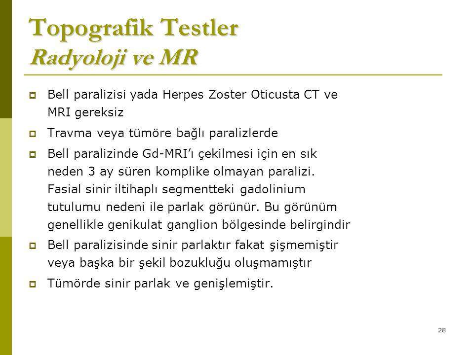 Topografik Testler Radyoloji ve MR
