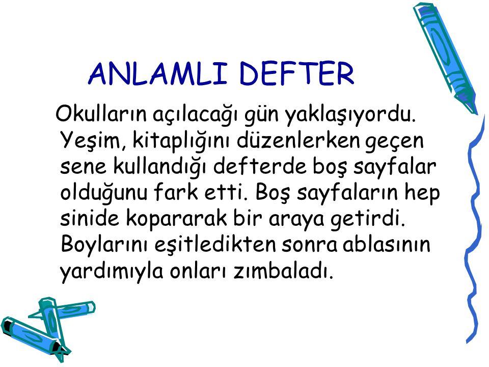 ANLAMLI DEFTER