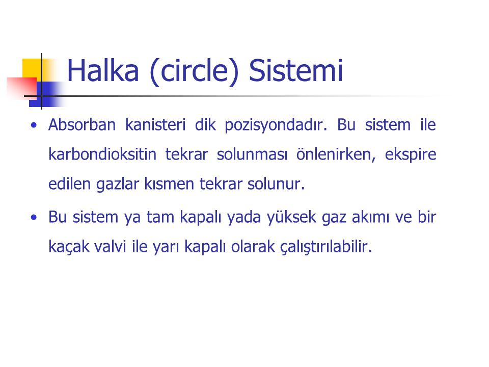 Halka (circle) Sistemi