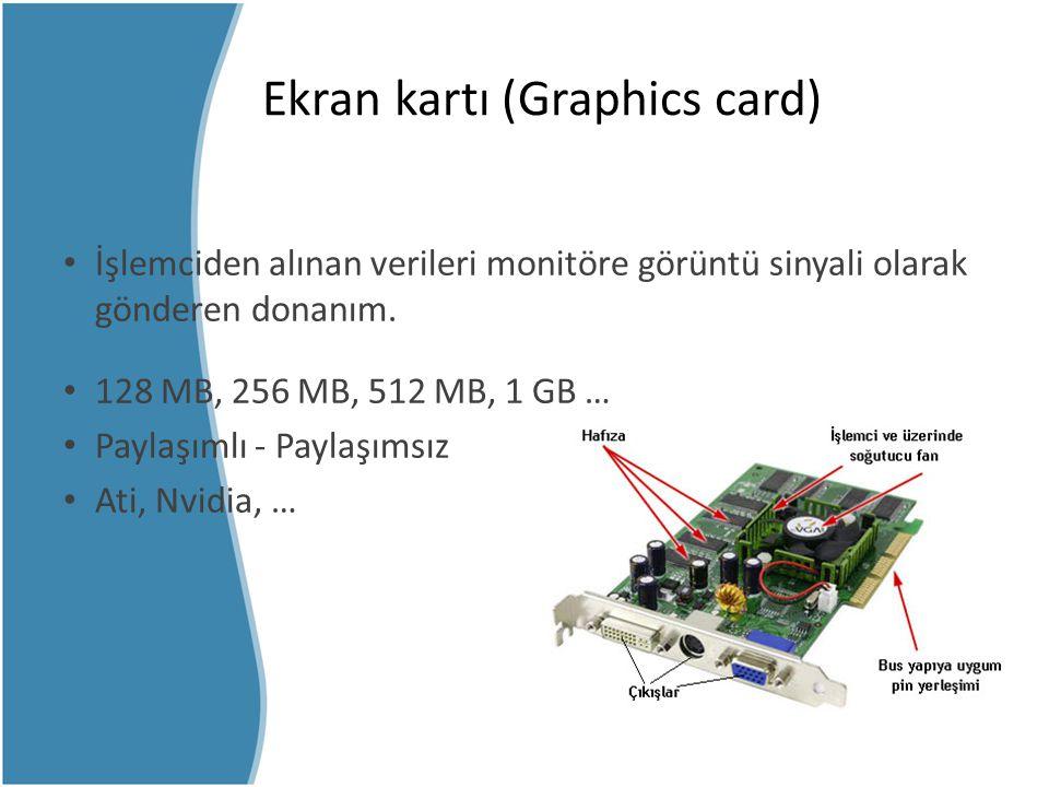 Ekran kartı (Graphics card)
