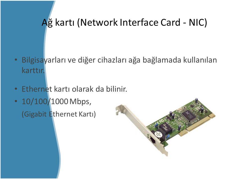 Ağ kartı (Network Interface Card - NIC)