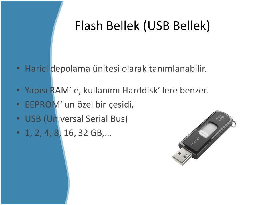 Flash Bellek (USB Bellek)