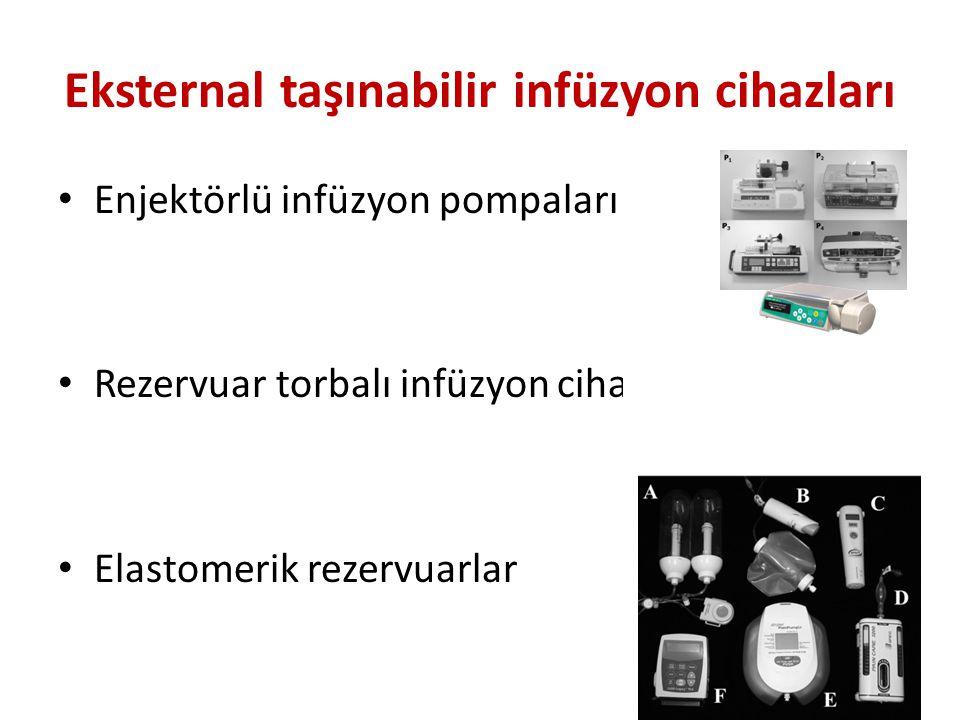 Eksternal taşınabilir infüzyon cihazları