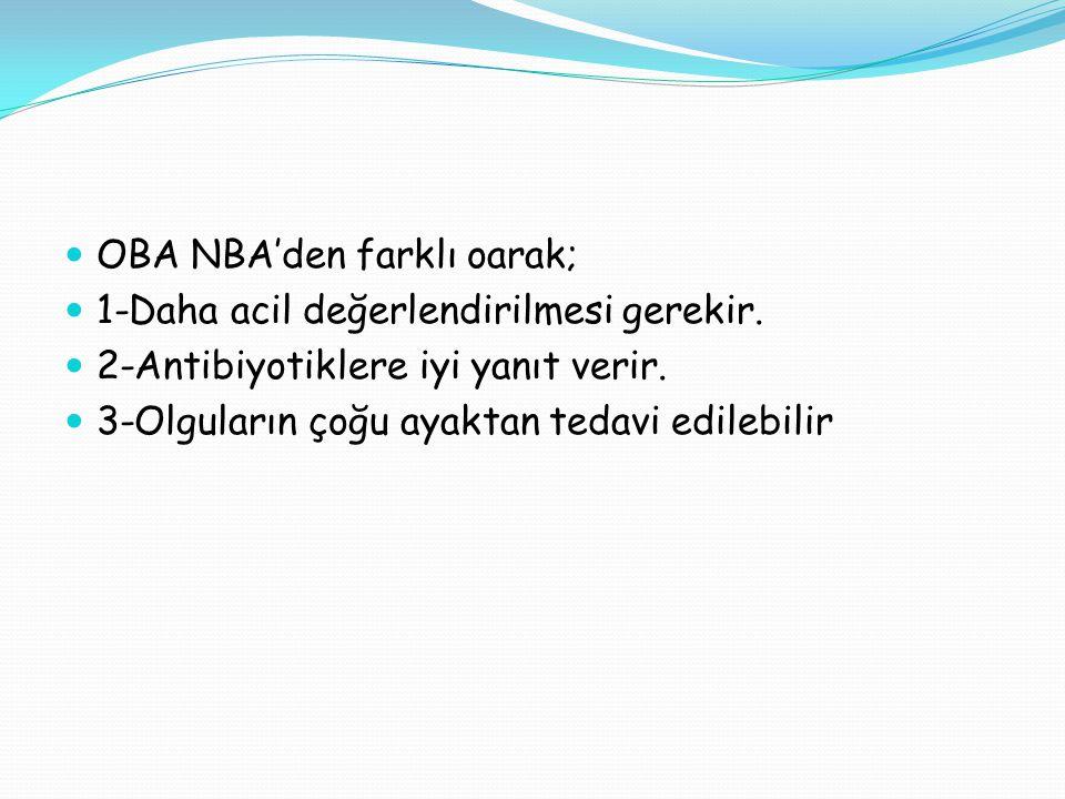 OBA NBA'den farklı oarak;