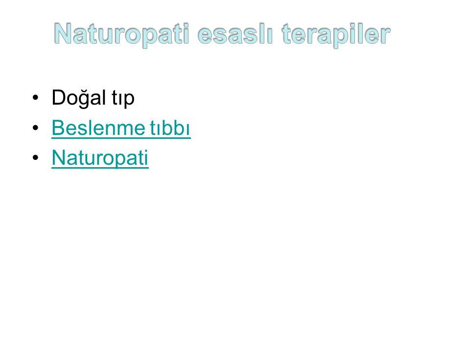 Naturopati esaslı terapiler