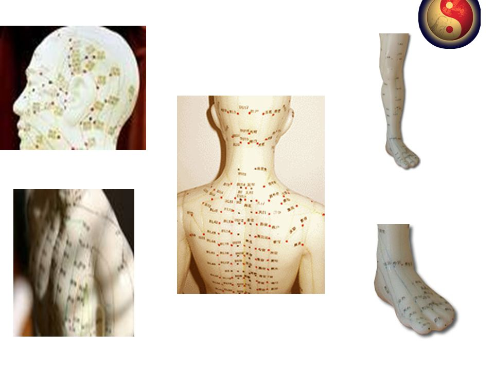 Yaklaşık 1000 meridyen noktası bulunur bunların 300-350 tanesi tedavide kullanılır. Bu noktaların akupunktur iğneleri yoluyla uyarılması ile vücut enerji dengesi düzenlenir.