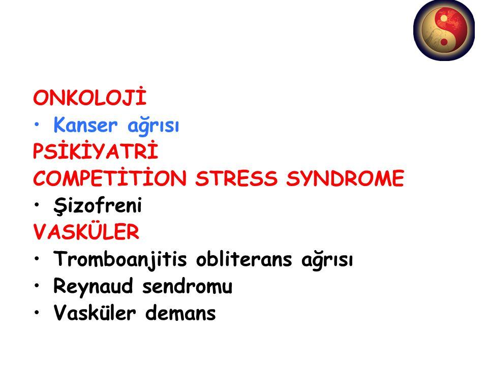 COMPETİTİON STRESS SYNDROME Şizofreni VASKÜLER