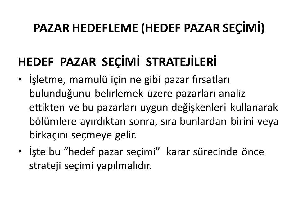 PAZAR HEDEFLEME (HEDEF PAZAR SEÇİMİ)