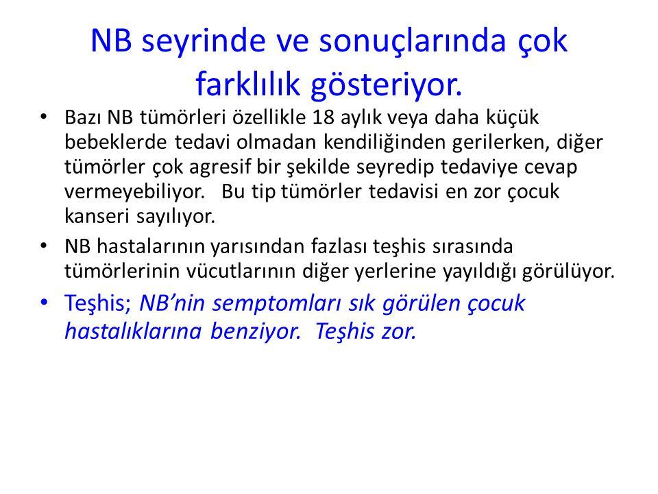 NB seyrinde ve sonuçlarında çok farklılık gösteriyor.