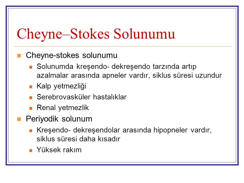 Cheyne–Stokes Solunumu