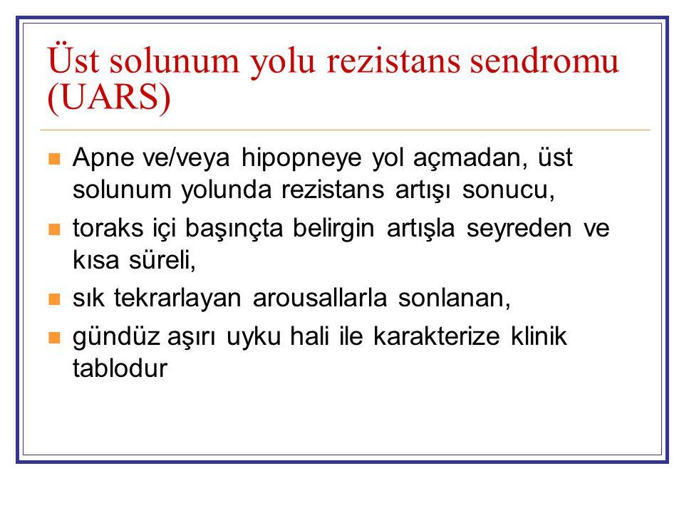 Üst solunum yolu rezistans sendromu (UARS)