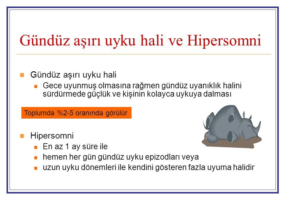 Gündüz aşırı uyku hali ve Hipersomni